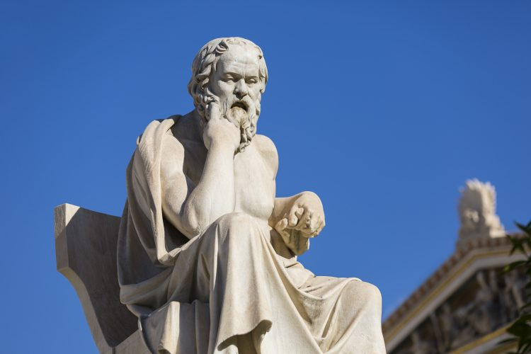 Socrate philosophe assis