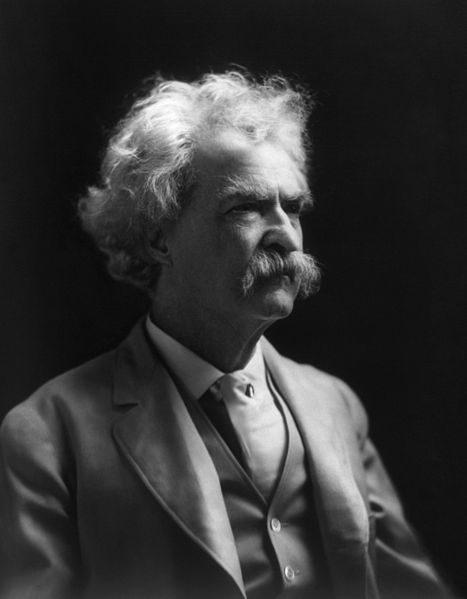 Portrait de profil de Mark Twain